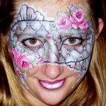 close flower lace mask