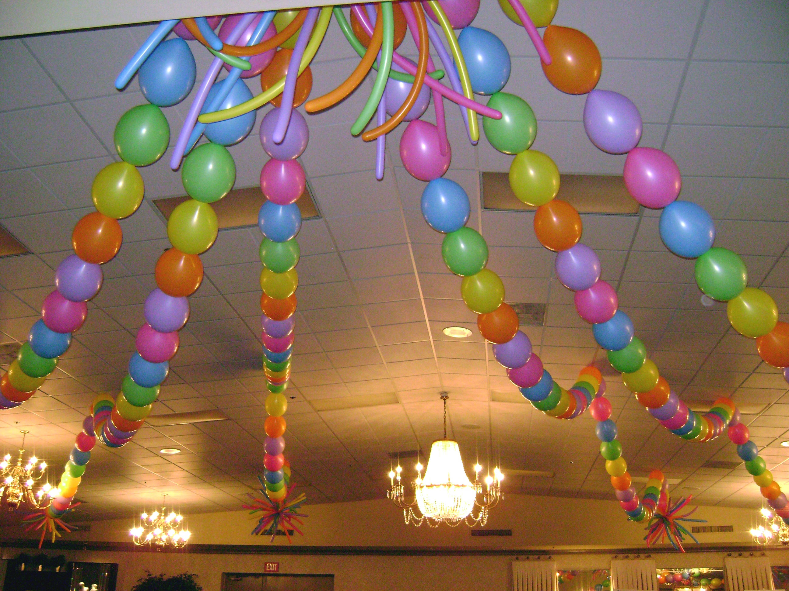 The balloon track fpba convention for Balloon decoration for ceiling